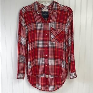 American Eagle Boyfriend fit Flannel shirt